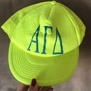Alpha Gamma Delta trucker hat